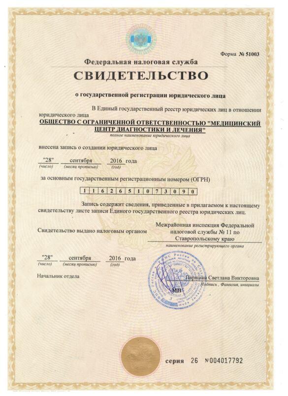 СВИДЕТЕЛЬСТВО Лицензии